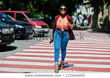 woman on the pedestrian crossing Stock photo © adrenalina