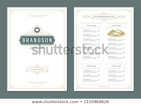Restaurant menu vector design template - luxury vintage style Stock photo © blue-pen