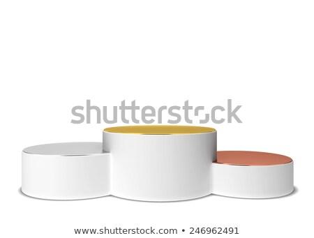 üres arany ezüst bronz pódium három Stock fotó © pakete
