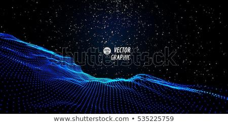 3D · digitale · particelle · vettore · design - foto d'archivio © molaruso