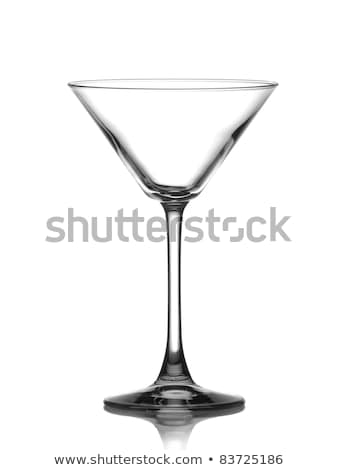 Lege martini glas zwarte cocktail glaswerk 3d illustration Stockfoto © pakete