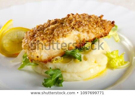 Fried fish with mashed potato Stock photo © Digifoodstock