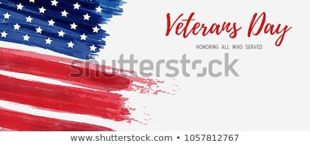Nap amerikai zászló terv összes felszolgált üzenet Stock fotó © Krisdog