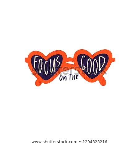 иллюстрация сердце Солнцезащитные очки вектора Cartoon Сток-фото © curiosity
