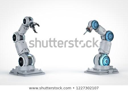 Robotachtige mechanisch arm 3D business Stockfoto © user_11870380