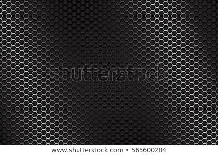 metal background with hexagons stock photo © cifotart