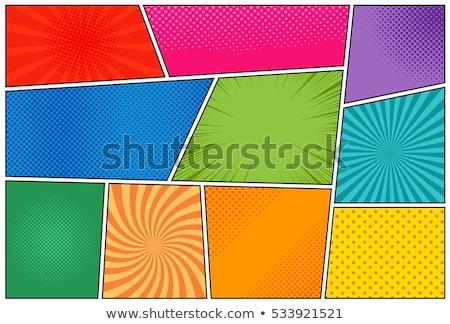 empty comic book page template colorful background with rays Stock photo © SArts