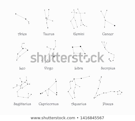Star-field background of zodiacal symbol 'Aquarius' Stock photo © kayros