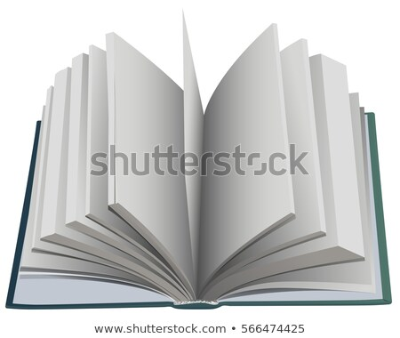 Hardcover open book fan page Stock photo © orensila