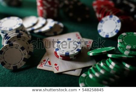 Pair of dice on poker table Stock photo © wavebreak_media