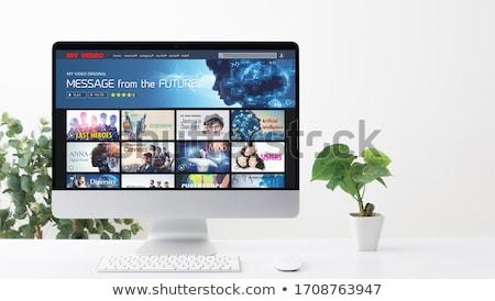 portable · écran · publicité · modernes · travail - photo stock © tashatuvango