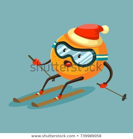 jóvenes · estilo · libre · esquiador · saltar · alto · montanas - foto stock © fisher
