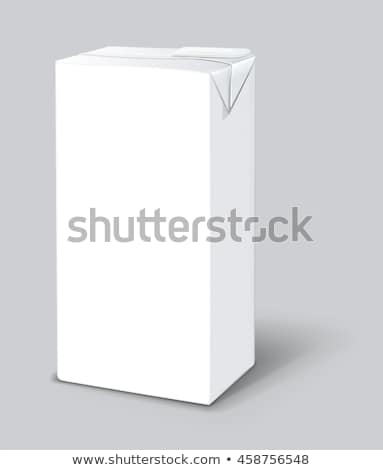 Juice Package Vector Realistic Mock Up. Carton Branding Box 1000 ml. White Empty Clean Cardboard Pac stock photo © pikepicture