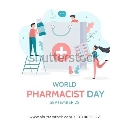 25 mundo farmacêutico dia calendário cartão Foto stock © Olena