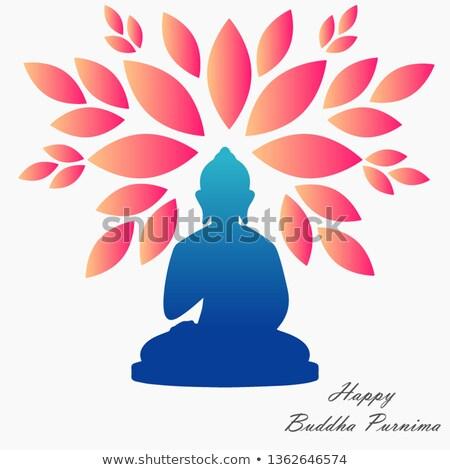 Будду икона линейный стиль фон йога Сток-фото © Olena