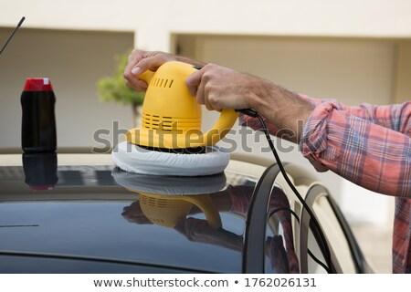Auto servizio personale pulizia auto lavare Foto d'archivio © wavebreak_media