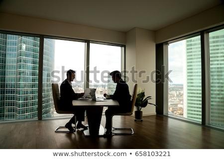 pár · elvesz · törik · dolgozik · laptopok · internet - stock fotó © is2
