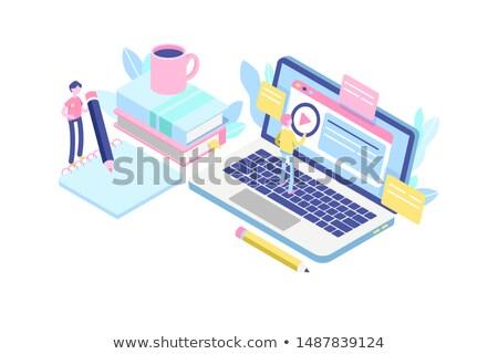 Laptop Screen with Retraining Concept. Stock photo © tashatuvango