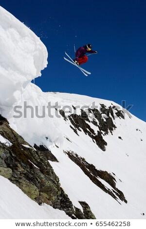 Adam mor boşluk kar tatil kayakçılık Stok fotoğraf © IS2