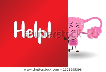 uterine cancer medical concept on red background stock photo © tashatuvango
