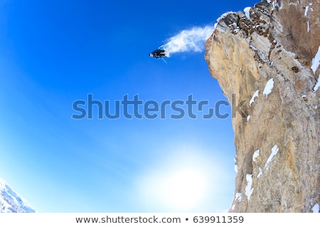 Skieur sautant falaise homme nature Photo stock © IS2
