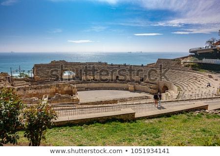 Stok fotoğraf: Ancient Roman Amphitheater In Tarragona Spain