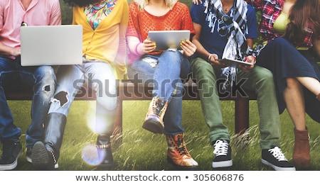グループの人々 ·  · サイド · 家族 · ジェンダー · 高い · 人 - ストックフォト © is2
