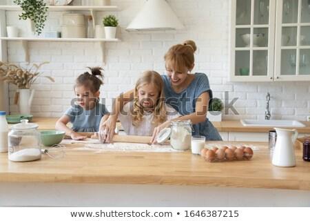 dos · personas · panadería · hombre · cocina · frescos - foto stock © is2