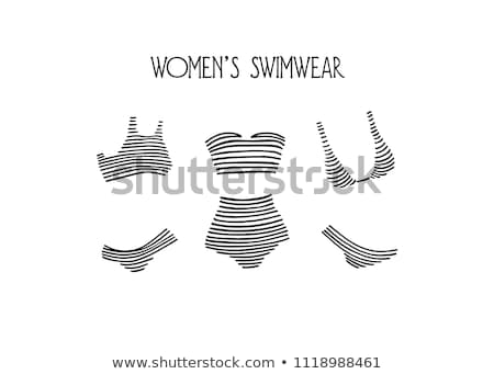 women s swimsuit set vector beautiful girls in bathing suits of different types various types fas stock photo © pikepicture