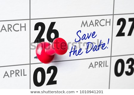 Wall calendar with a red pin - March 26 Stock photo © Zerbor
