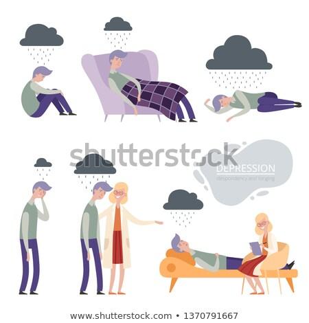 男 座って だけ ストックフォト © palangsi