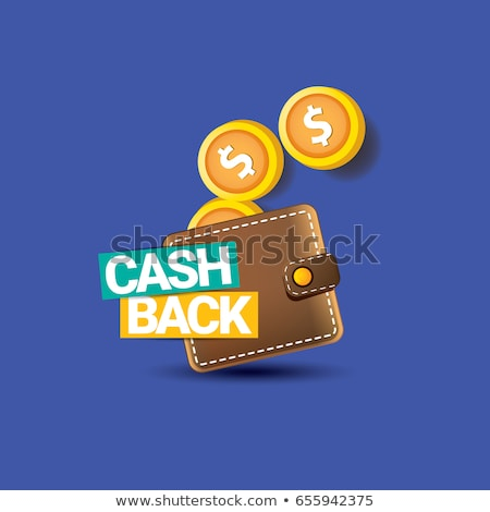 Cash back isolated stickers set stock photo © studioworkstock