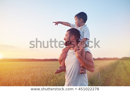 Father and son in field together Stock photo © IS2
