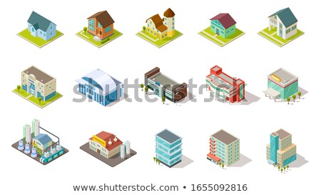 tijdgenoot · isometrische · model · luchthaven · gebouw · architectuur - stockfoto © studioworkstock