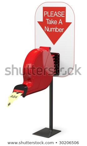 Ticket dispenser on support stand stock photo © sidewaysdesign