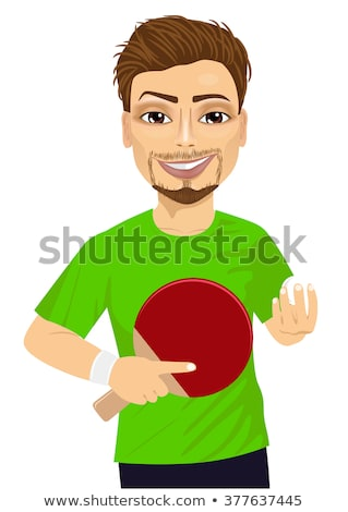 Boy holding table tennis paddle Stock photo © IS2