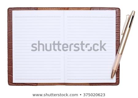 pen on schedule book Stock photo © cozyta