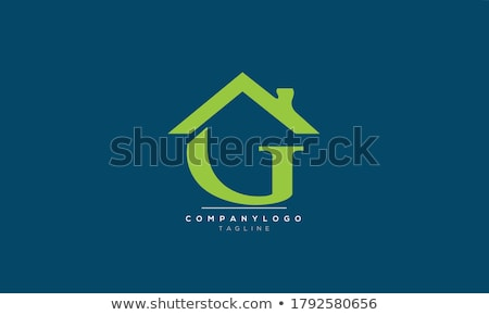 ház · logo · g · betű · felirat · sablon · épület - stock fotó © taufik_al_amin