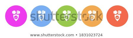 Stock photo: Padlock Round Vector Web Element Circular Button Icon Design