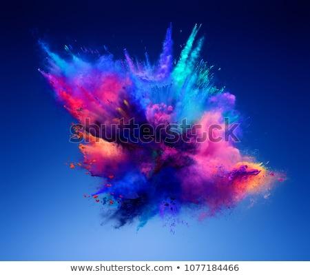 Explosie gekleurd poeder groene vector aquarel Stockfoto © kostins