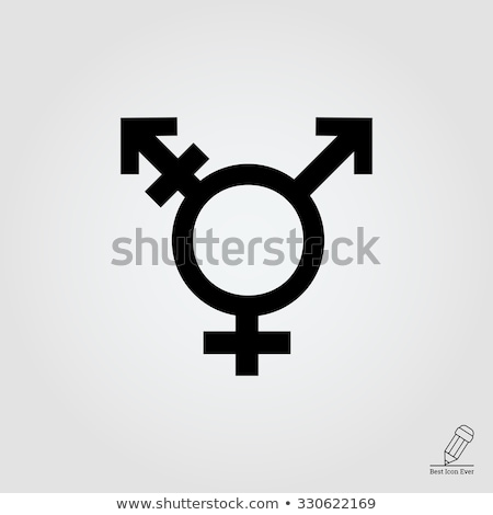 Transgender symbool vector icon dun lijn Stockfoto © smoki