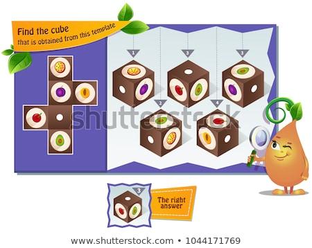 Foto stock: Formas · jogo · crianças · fotos · crianças · atividade