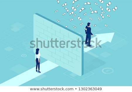 nem · egyenlőség · vektor · üzletember · üzletasszony · egyenlő - stock fotó © tarikvision