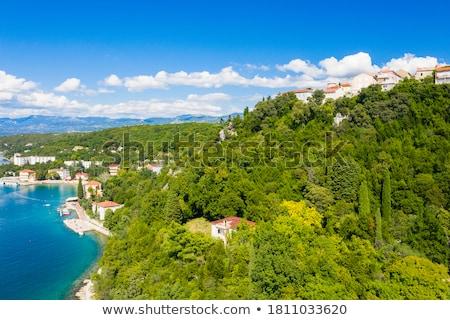 Town of Omisalj bay view Stock photo © xbrchx