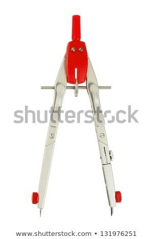 Red Drawing Compass Stock fotó © ajt