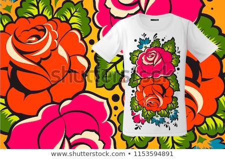 Moderno tshirt design floreale stampa russo Foto d'archivio © ikopylov