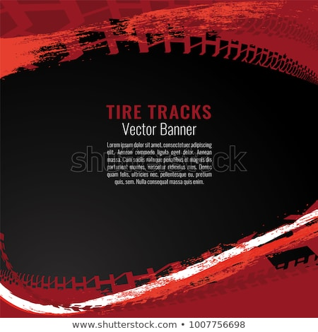 black grunge background with tire track marks Stock photo © SArts