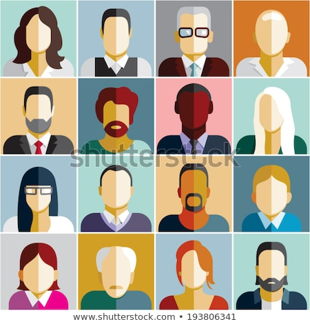 Utenti icone ufficio uomini d'affari set business Foto d'archivio © NikoDzhi