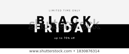 Black Friday discount poster with sale price tag Stock photo © SwillSkill