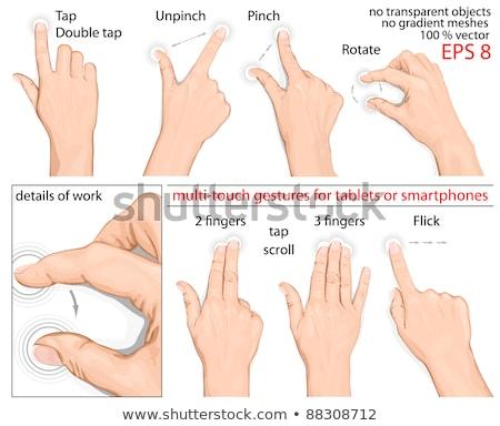 hand · gebruikt · gebaren · ingesteld · iconen - stockfoto © dejanj01